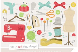 Sewing Supplies Clipart