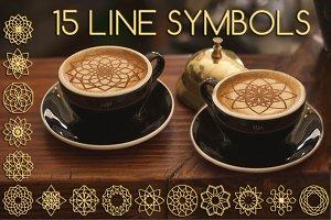 15 Line graphic symbols