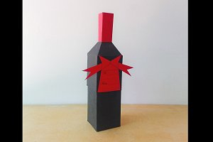DIY Bottle Favor - 3d papercrafts