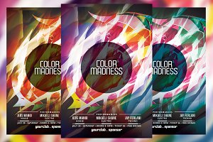 Color Madness Party Flyer