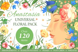 Anastasia Floral Graphics Pack