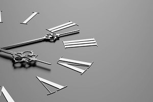 Clock face on dark gray background