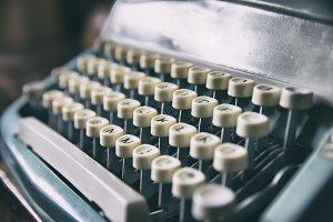 Keyboard of retro printer