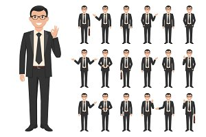 Young businessman set
