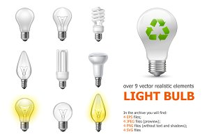Realistic Light Bulb Set