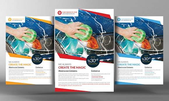 Car Wash Flyer Template Flyer Templates on Creative Market – Car Flyers