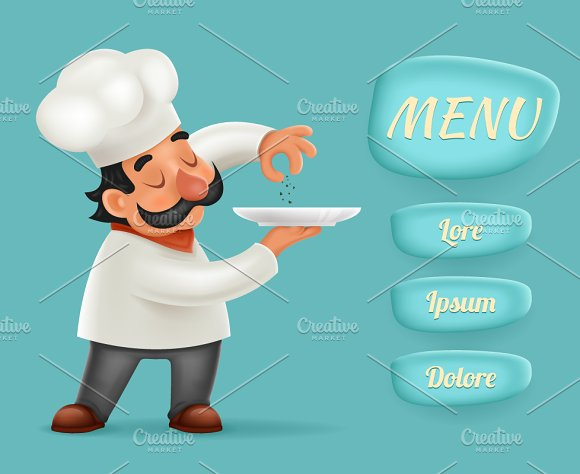 Cartoonsmart Character Design With Illustrator : Example of menu in catering business designtube