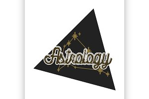 Color vintage astrology emblem