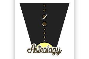 Color vintage astrology emblem