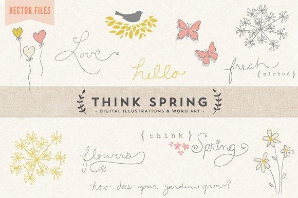 Think Spring Vector Art