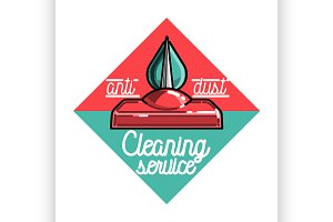 cleaning service emblem