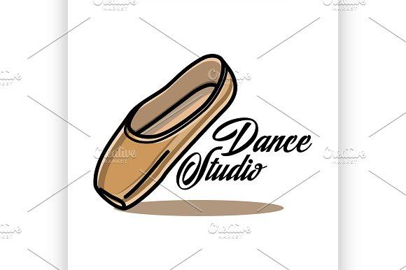 Color Vintage Dance Studio Emblem