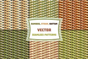 Bamboo, straw, rattan weaving