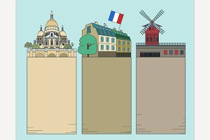 Travel to Paris Banners