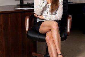secretary is busy sitting
