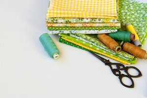 Sewing kit and cloth materials