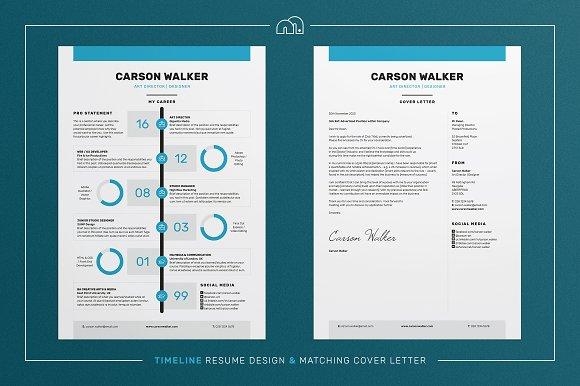 resumecv carson resume templates creative market