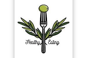 Color vintage nutritionist emblem