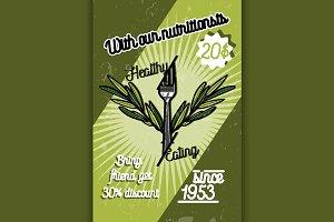 Color vintage nutritionist poster
