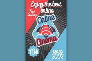 Color vintage online cinema banner