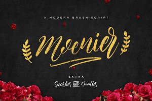 Moenier Script Font