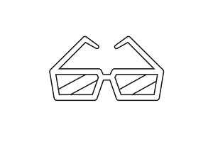 Cinema glasses line icon