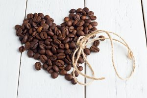 heart of the coffee beans