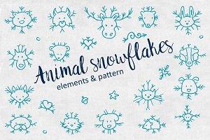 Animal snowflakes