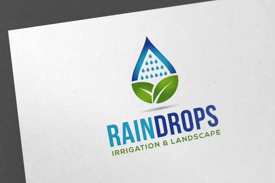 Rain Drops Logo
