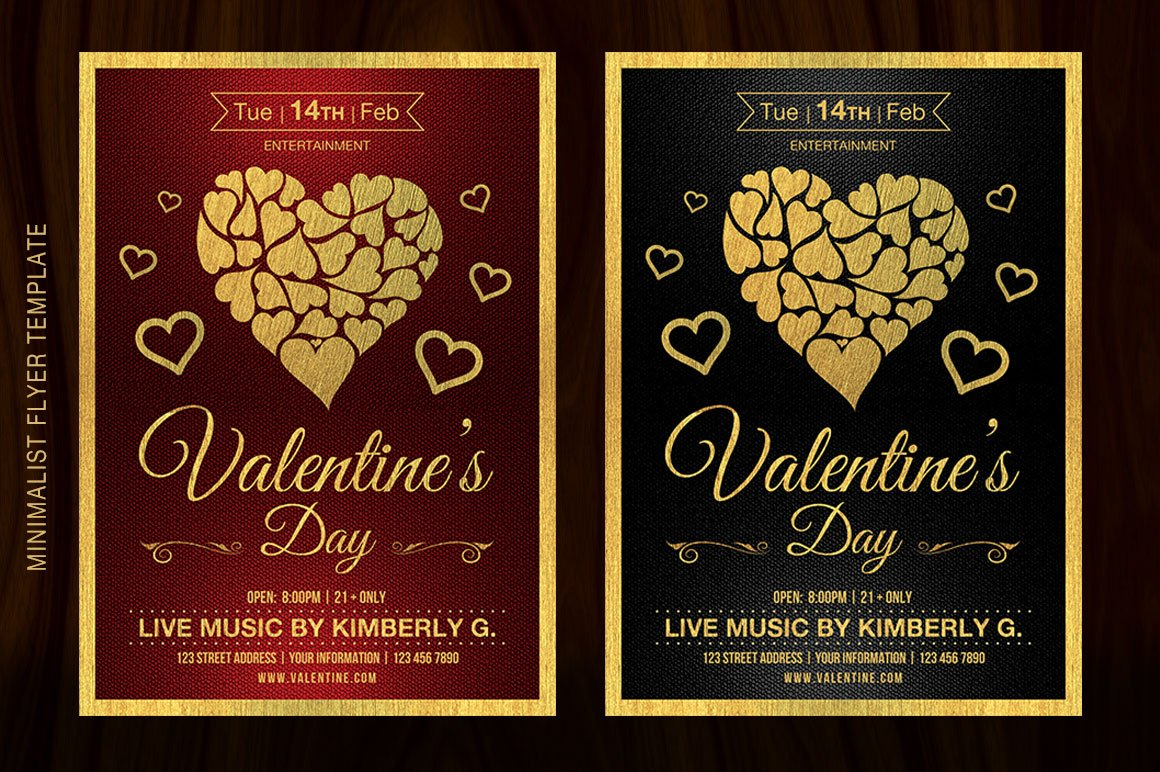 valentine s day flyer template flyer templates creative market