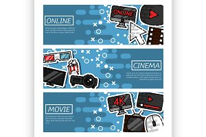 Horizontal Banners online cinema
