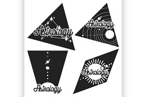 Vintage astrology emblems