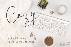 Cozy - 12 Stock Images + a bonus PSD