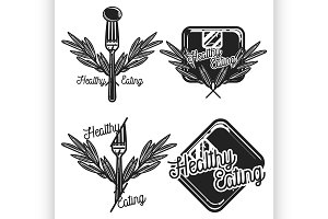Vintage nutritionist emblems
