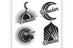 Vintage ramadan emblems