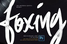 Foxing Font + PS Action50% Discount!