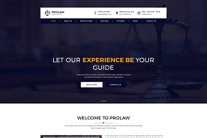 Prolaw legal law firm psd template