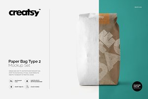 Paper Bag Type 2 Mockup Set
