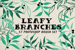 Leafy Branches Photoshop Brushes