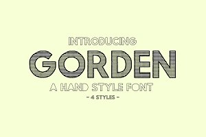 Gorden | A Hand Style Font