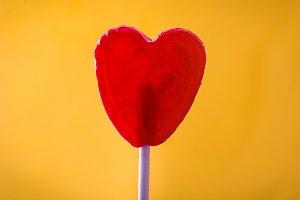 Lollipop with heart shape