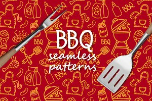 Barbecue Seamless Patterns