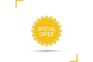 Special offer sticker. Vector