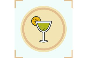 Margarita cocktail icon. Vector