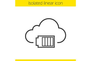 Cloud computing icon. Vector