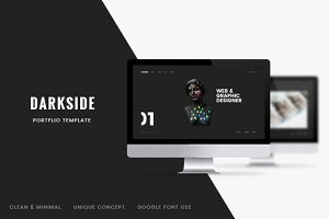 Darkside — Clean & Minimal Portfolio