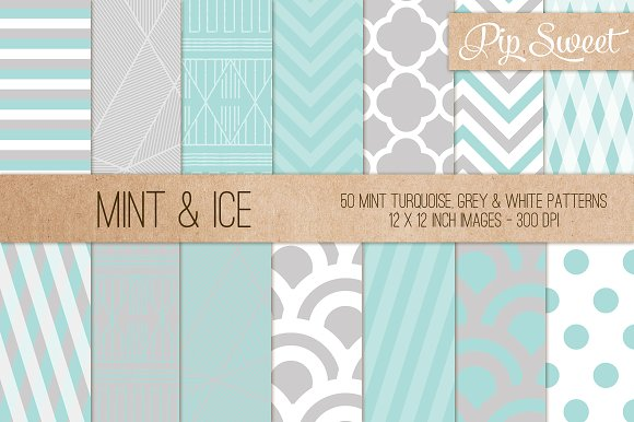Mint & Ice 50 Pattern Set