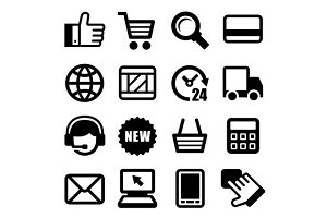 E-commerce Business Icons Set