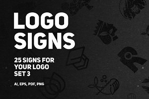 Set 3 | 25 signs for your logo