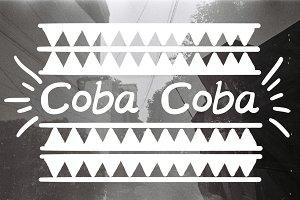 Coba Coba Handwritten Font